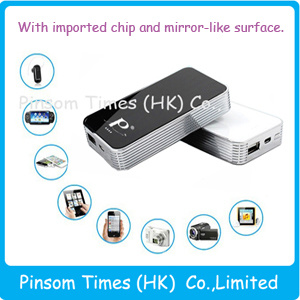 La Banca di potere di Pinsom 5000mAh con Suface Mirror-Like per iPhone/iPad/Samsung (PT-5008)