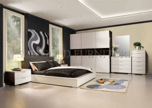 Mobilia di legno moderna poco costosa della camera da letto dell'appartamento (SZ-BF053)