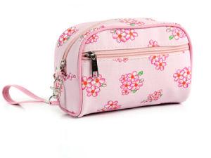 Flor de alta calidad de la bolsa de cosméticos bolsa de cosméticos Lady personalizado