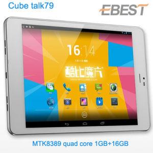 7,9 polegada cúbica quente U55gt falar79 Mtk8389 Quad Core Tablet PC 1GB, 16GB GPS FM Bluetooth WiFi WCDMA 3G Telefonema Android Market 4.2 MID