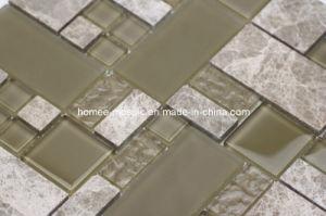 Tuiles de mosaïque en verre et de marbre de mélange