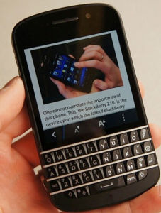 Gloednieuwe In het groot Q10 Van de Bedrijfs telefoon 3.1inch van het Toetsenbord Mobiele 4G Telefoons
