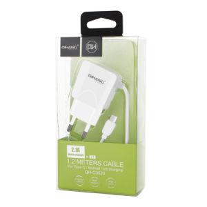 2.1A быстрое зарядное устройство для мобильных телефонов с 1,2 м типа C кабель USB
