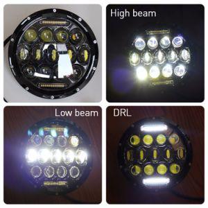 7 駐車灯の前部ランプ車のオートバイが付いているジープ円形LEDの運転する工場ハイ・ロービームDRLヘッドライト