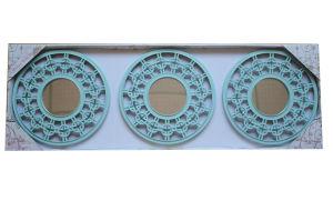 10インチフレームミラーの3パソコンセット