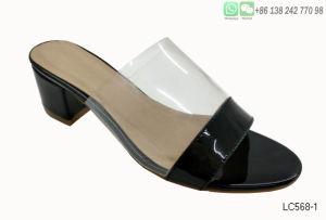 Дамы сандалии прозрачной пластиковой Peep Toe высокого каблука обувь