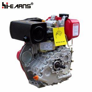 糸シャフトの赤いカラー(HR170F)の4HPディーゼル機関