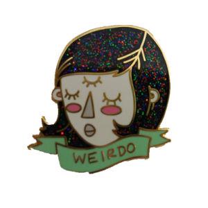 Logotipo personalizado insignia de solapa Broches con Glitter para regalos
