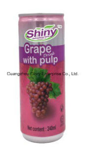 240ml glänzendes Brand&Nbsp; Natürliche Frucht-sich hin- und herbewegender Traubensaft mit 10% der realen Masse