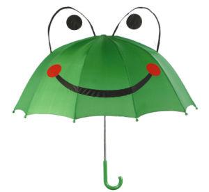 カエルの動物の子供の傘