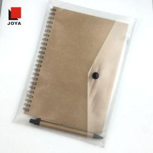 新しい昇進のノートを詰めるPVC袋