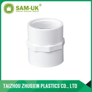 Bajo precio Sch40 la norma ASTM D2466 Adaptador de conexiones de PVC blanco Una04
