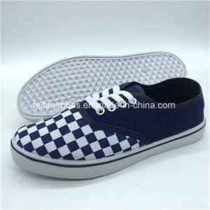 Qualitäts-Erwachsen-Freizeit bereift Segeltuch-Schuhe (PY0315-6)