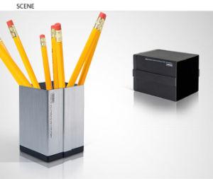 C2001 사무실 사각 2 바탕 화면을%s 알루미늄 펜 저장 홀더는 편성한다