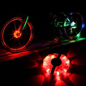 Аккумуляторный светодиод велосипеда на велосипеде по ступицы сигнальная лампа велосипедов