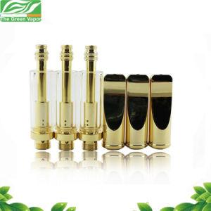 El oro y plata de vidrio Pyrex 1.0ml Cbd Cartucho de aceite, Bud Clearomizer