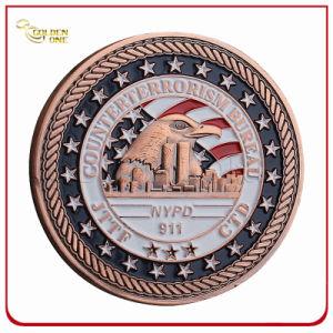 Custom 3D bañado en cobre Metal Soft enamel desafío recuerdos Coin