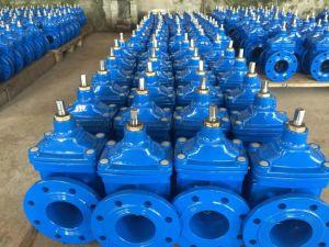 Fabricante de fundición de hierro dúctil, Wras, ACS, BS5163, DIN3352, F4, F5 Nrs resistente sentado, válvula de compuerta de control industrial, con el extremo de la brida