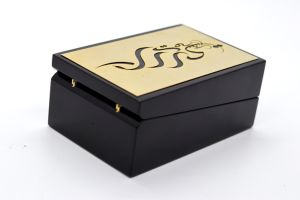 Negro de estilo popular de perfumes de madera pintadas de Verificación de PU