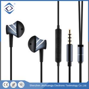 Gris portátil estéreo con cable de 3,5 mm en la oreja el auricular del teléfono móvil