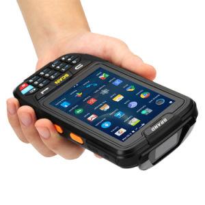 Ordinateur de poche robuste sans fil WiFi PDA de capture de données du terminal mobile laser 1D Lecteur de code QR Android Scanner de code à barres 2D