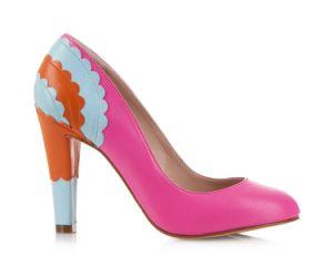 Cristal de fleur de mode en cuir véritable haut talon chaussures de mariage robes de mariée