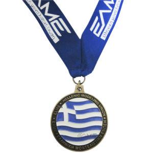 Medaglia su ordinazione dello smalto in lega di zinco del metallo per l'unione/corsa modellante ellenica delle colline pedemontana/sfida Secondaria-c