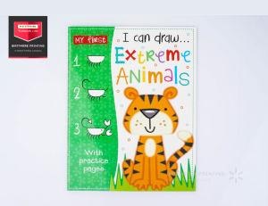 Leitura de alunos da escola por escrito a impressão de livro para colorir