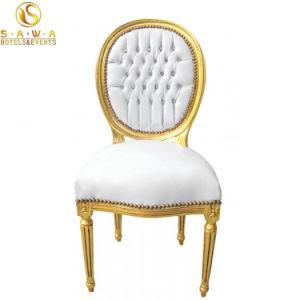 Роскошные свадьбы король трон стул Baroquet ткань Кресло из кожи