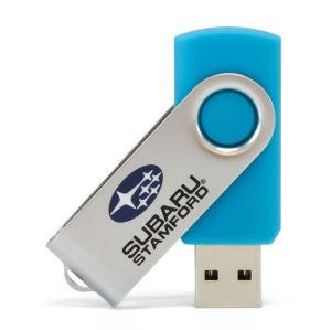 Классические металлические поворотного флэш-накопитель USB с логотипом лазера