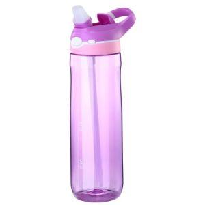 450ml Tritan BPA geben Sport-Wasser-Flasche mit Silikon-Stroh frei