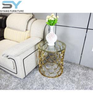 Aço inoxidável móveis domésticos Metal Mesa da extremidade da base da mesa de café