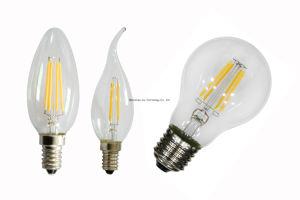 C35 2700k filamento da lâmpada LED de vidro da lâmpada LED