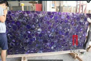 Panneau d'Agate violet naturel dalle de pierre de pierres semi précieuses