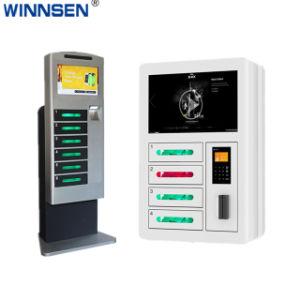 Banknoten lässt Selbstlohn-Netzwerk-FernHandy-aufladenkiosk-DigitalSignage mit Digital-Schließfächern APC-06b laufen