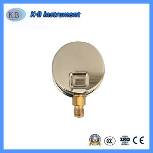 manometro dell'acciaio inossidabile di 60mm per l'esportazione del manometro con Ce
