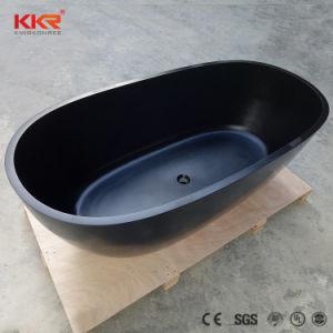 Vasca da bagno ovale diritta libera della pietra opaca nera della resina di kingkonree vasca - Vasca da bagno nera ...