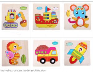L'Intelligence de puzzle 3D enfants bébé Jouets en bois au début de jouet éducatif