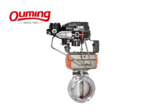 Interruptor de limite de aço inoxidável 2,5 polegadas Válvula Borboleta Pneumática