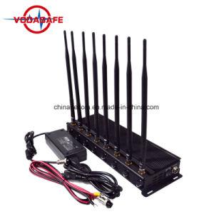 2018 Stationaire Regelbare 8 Antenne van de Versie Udpated Lojack, 433, 315, GPS, Cellulaire Stoorzender met Veilig Geval; Nieuw laatst Al Cellphone 2g, 3G, 4G