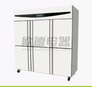 Ce doble comercial autorizado/cuatro/seis menaje de cocina de la puerta del congelador de Refrigeración directa