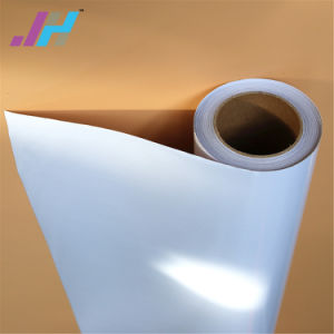 A cola branca e preta Película de vinil de PVC para material de impressão