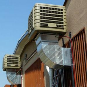 An der Wand befestigt industrielle Plastikverdampfungskühlvorrichtung mit Cer unten entladen