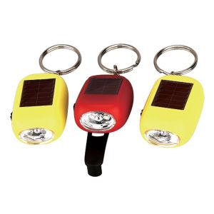 Flitslicht van Keychain van de Dynamo van de Gift van de bevordering het Mini 2-geleide Zonne hand-Onstabiele