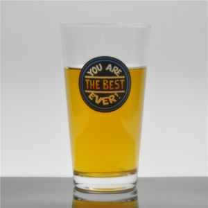 Venta caliente pinta de cerveza Cristal la cerveza Pilsner de vidrio de vidrio, con 16oz.