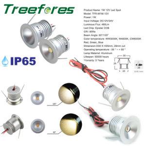 1W 15mm 25mm tecto LED baixar IP65 tecto LED 12V
