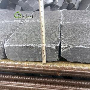転落させた玄武岩の玉石の敷石、黒い玄武岩の私道のペーバー