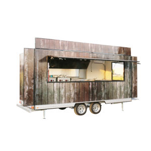 Großhandelschina-Hersteller-mobile Nahrungsmittelwohnwagen-Nahrungsmittelkarre für Verkauf