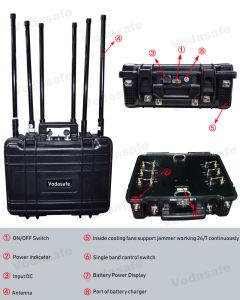 De Draagbare 6baste Stoorzender van de hoge Macht/Blocker, Vodasafe Pl6b: Blokkerend voor Al Mobiele Telefoon 3G/2g (GSM/CDMA/DCS)/4glte/Gpsl1, Al Stoorzender van het Signaal van de Frequentie