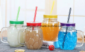 Personalizar a forma de esferas de vidro Mason Jar 500ml